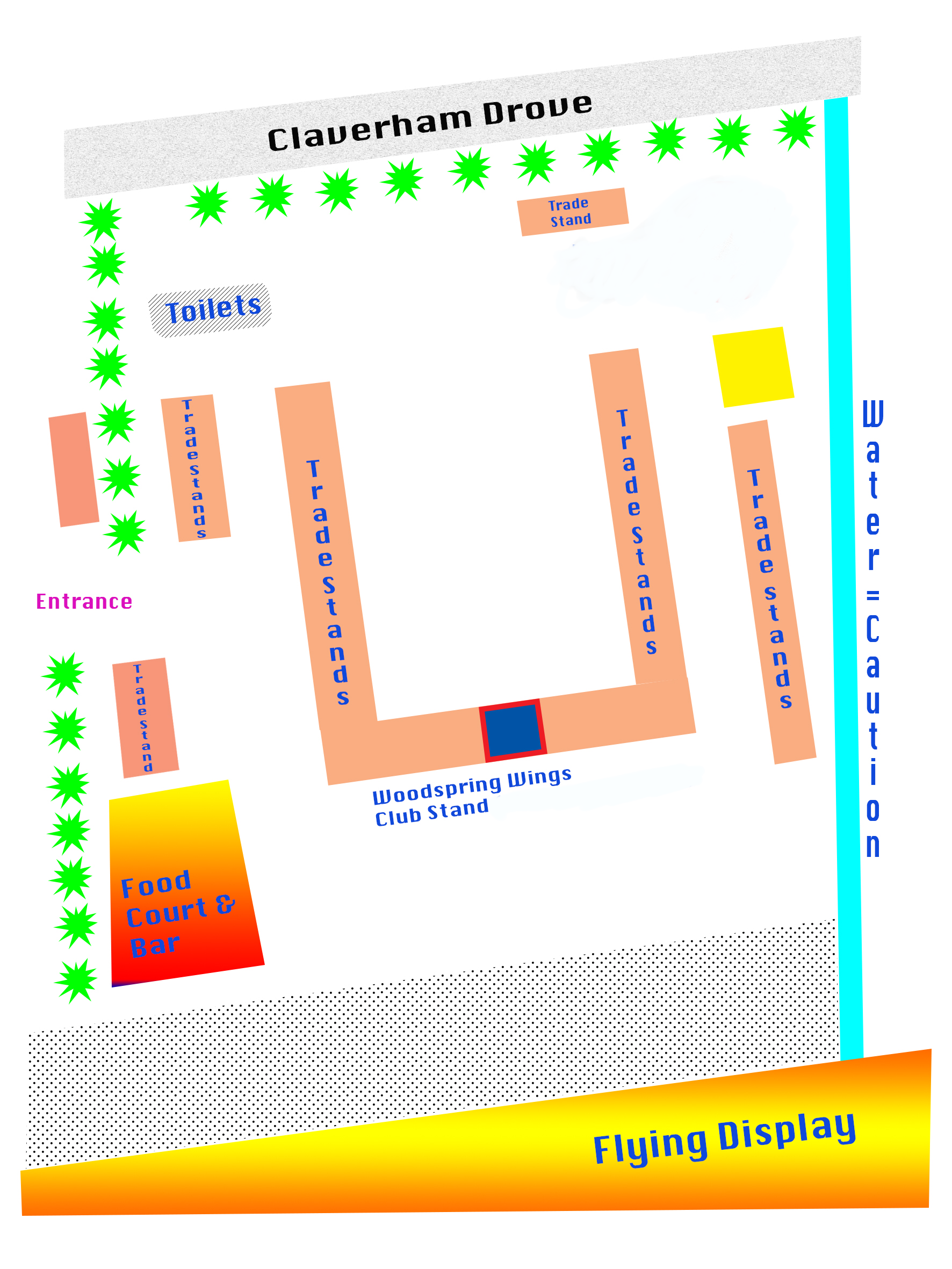 Woodspring Wings 2019 Site Map